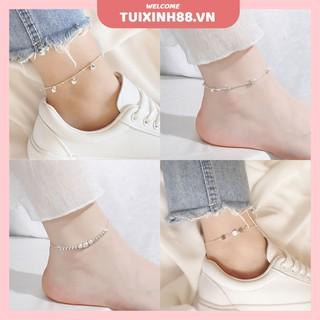 Lắc chân bằng bạc đi biển thời trang cho nữ thumbnail