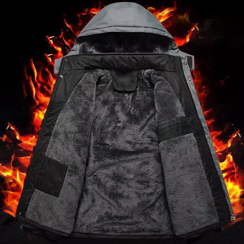 áo ấm cho ông, áo khoác lót nỉ nhung dày ( 2