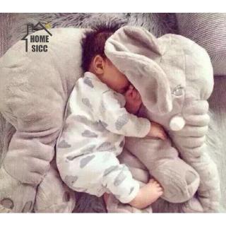 Gối hình con voi sang trọng Mềm mại Thú nhồi bông Chơi bạn ngủ Ngủ đệm cho bé đi kèm với búp bê