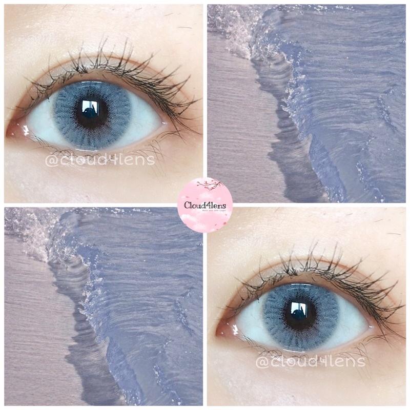 kính áp tròng SWEET BLUE màu xanh biển trong veo size XS áp tròng không giãn HSD 6 tháng