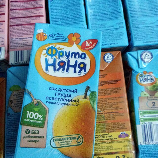 Combo 5 nước hoa quả fruto cho trẻ trên 4 tháng tuổi
