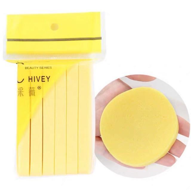 Hàng loại 1 - Bông nở rửa mặt Chivey 12 miếng Miếng mút rửa mặt bọt biển dạng nén ( Gói 12 thanh) thumbnail