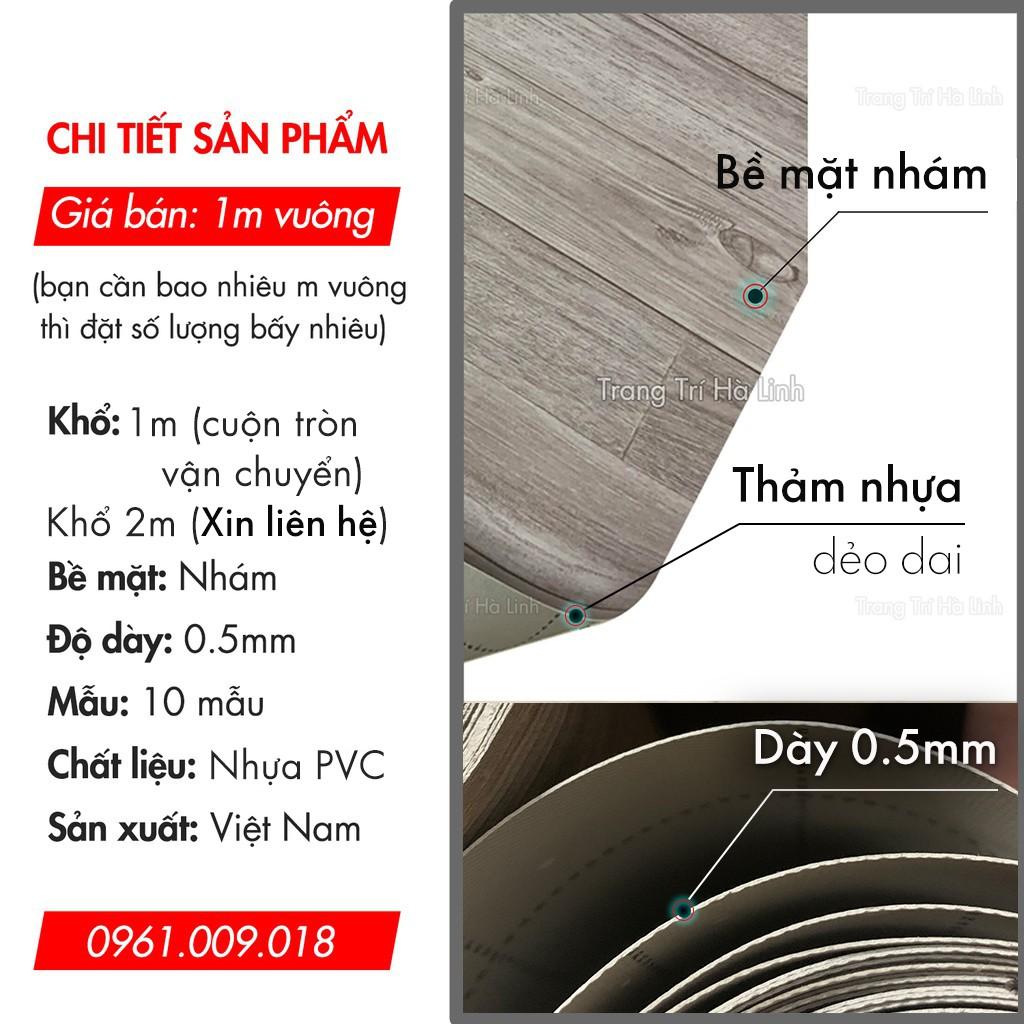 Thảm nhựa trải sàn vân gỗ , simili trải sàn vân gỗ pvc nhám xám chống nước bền đẹp giá rẻ