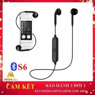 Tai nghe Bluetooth S6 FREE SHIPTai nghe không dây, Tai nghe Bluetooth+Tặng dây sạc 28K, Aha Case