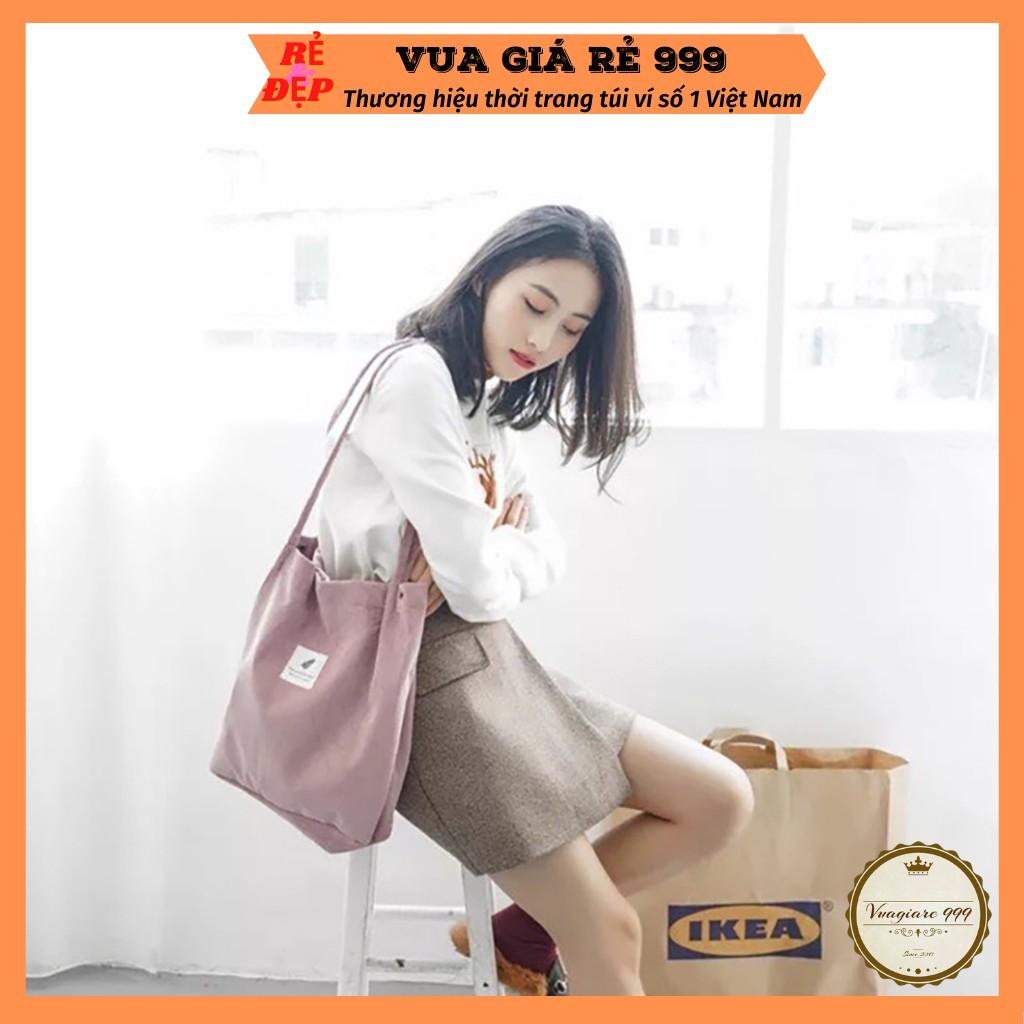 Túi tote vải canvas nhung đeo chéo phong cách Hàn Quốc TV28