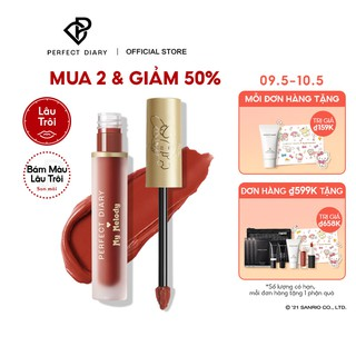 [Mã COSPDS -10% ĐH150K]Son kem Perfect Diary x Sanrio MagicStay Matte Cream Long-lasting High coverage 6 shades 3g thumbnail