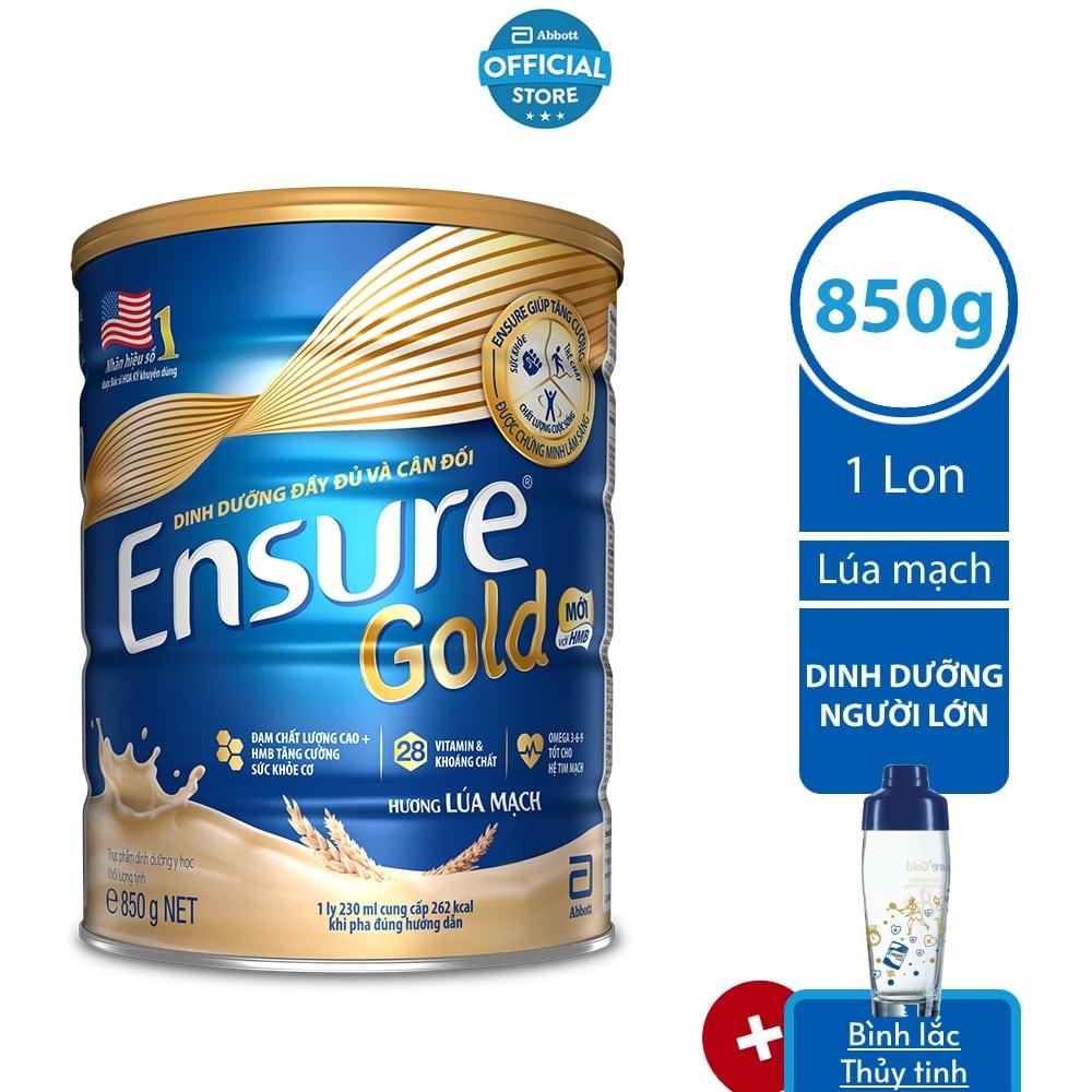 Sữa bột Ensure Lúa mạch 850G/lon