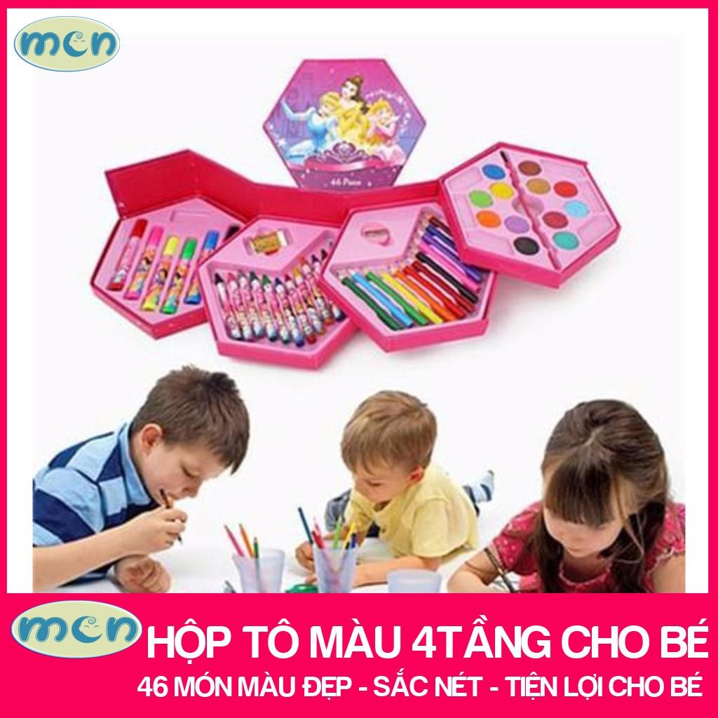 hộp bút tô màu cho bé / hộp tô màu cho bé – 46 món màu đẹp, sắc nét