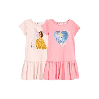Váy cộc tay cho bé gái, váy cotton cho bé gái, váy ngủ bé gái họa tiết Disney VH03