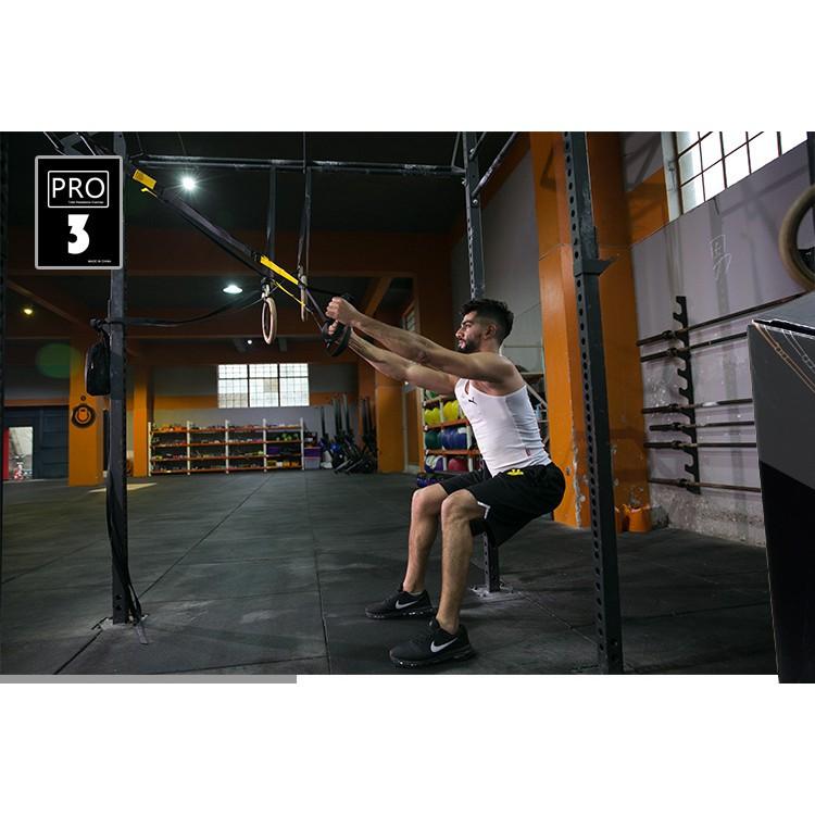 Dây kháng lực tập gym TRX P3, dây treo kháng lực đa năng tập Gym chính hãng TOPBODY-DTREO01