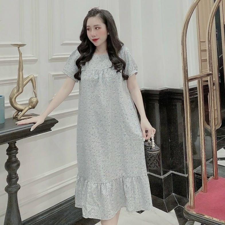 Mặc gì đẹp: Dễ chịu với Đầm bầu thời trang thiết kế MB329 chất hoa thô freesize từ 45 đến 70kg