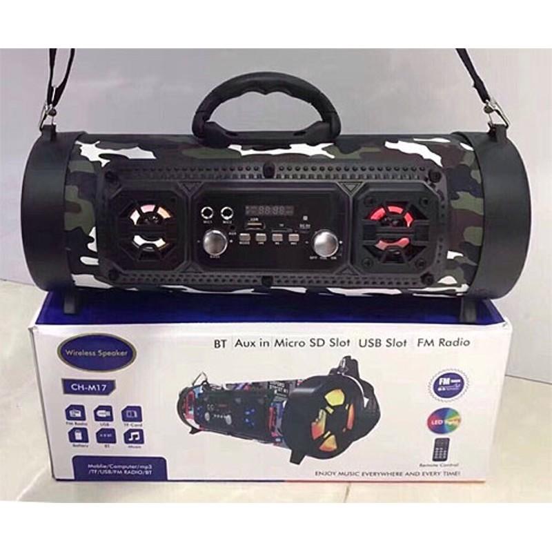Loa bluetooth karaoke xách tay CHM17 tặng kèm micro có dây