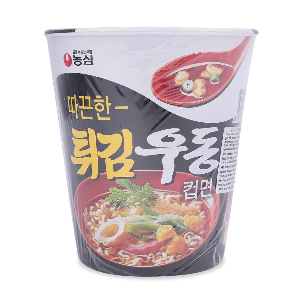 Combo 5 Mì Udon Chiên Nongshim Cốc Hàn Quốc 62G