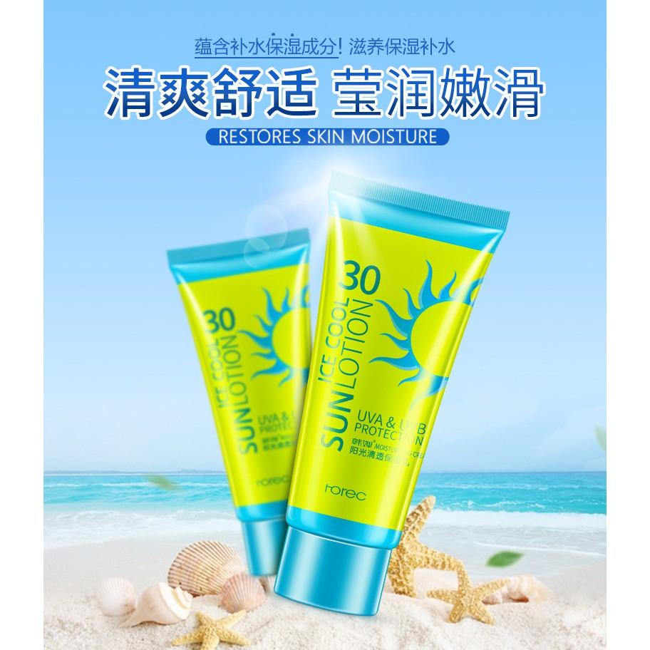 Kem chống nắng dưỡng da không nhờn rít Rorec nội địa Đài Trung