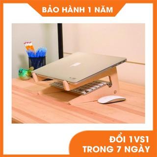 Kệ laptop, Giá đỡ laptop Size L bằng gỗ tự nhiên bền đẹp thumbnail