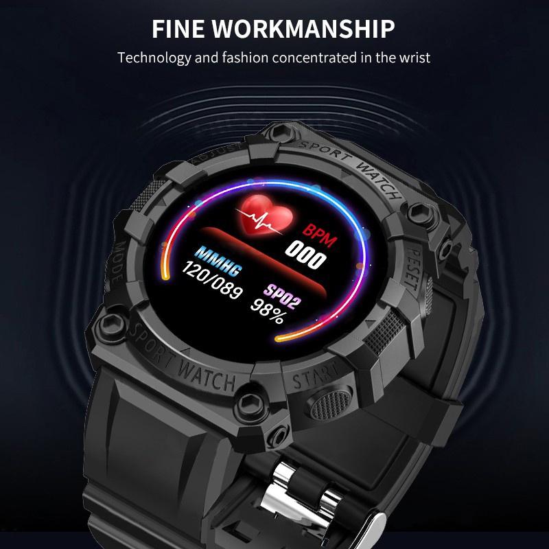 Đồng Hồ Đeo Tay Thông Minh Fd68S Có Cổng Sạc Usb 1.44in Đo Nhịp Tim / Giấc Ngủ Cho Android...