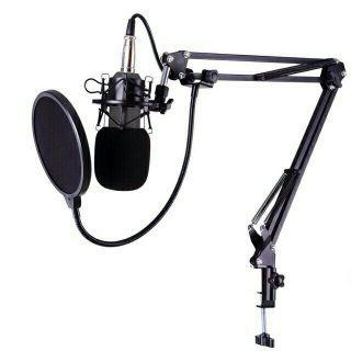 Combo bộ mic BM900 chân đế kẹp bàn màng lọc âm
