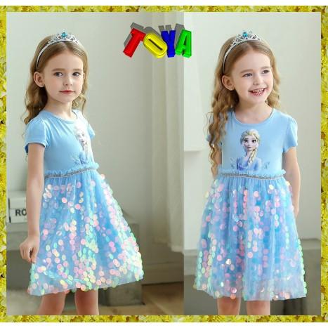 Toya elsa princess dress for gilrs 13-38kg