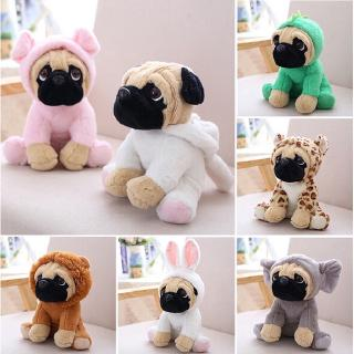XH Animal Pug Dog Plush Toy Dog Cosplay Khủng long Thỏ Voi Lion Sheep Leopard Plush Doll Gift