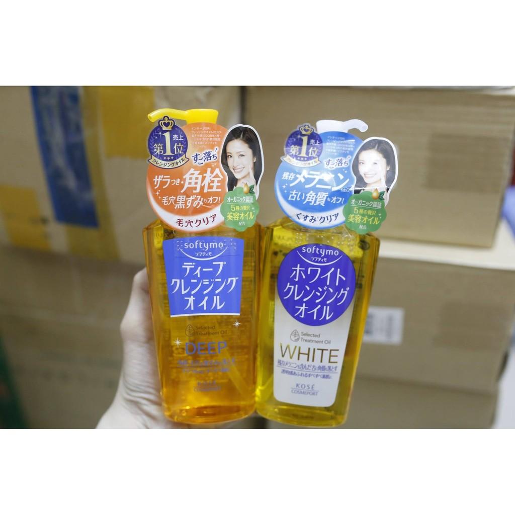 Dầu Tẩy Trang Kose Softymo White Cleansing Oil (230ml) - 3150735 , 222548548 , 322_222548548 , 289000 , Dau-Tay-Trang-Kose-Softymo-White-Cleansing-Oil-230ml-322_222548548 , shopee.vn , Dầu Tẩy Trang Kose Softymo White Cleansing Oil (230ml)
