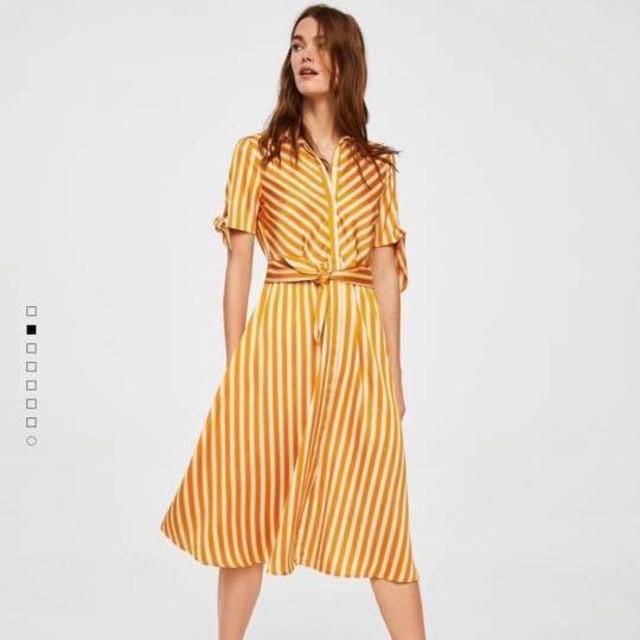 Váy midi sọc vàng thắt nơ eo mango - 2691569 , 1229412160 , 322_1229412160 , 340000 , Vay-midi-soc-vang-that-no-eo-mango-322_1229412160 , shopee.vn , Váy midi sọc vàng thắt nơ eo mango