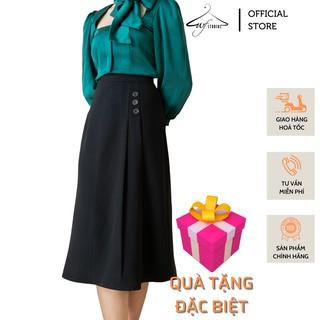 Chân váy chữ A xếp ly 3 cúc Zelly Skirt CV02 - thời trang công sở nữ wfstudios thumbnail