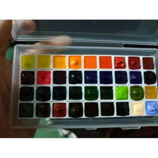 (Tặng cọ nước) Pocket 36 màu 0.5ml màu nước Mijello Mission Gold Hàn Quốc