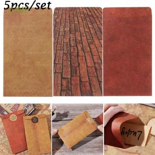 JUNE 5Pcs/Set School Supplies Wedding Invited Retro Chinese Style Stationery Kraft Envelopes