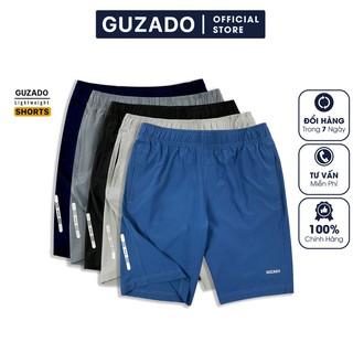 Hình ảnh Quần đùi nam Guzado phong cách thể thao khỏe khoắn, chất gió mềm siêu mịn, co giãn tốt, vận động thoải mái GSR01-0