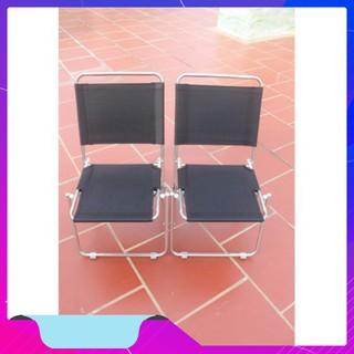 Ghế vải dù khung innox gấp gọn cho quán trà tranh,cafe,câu cá (chất lượng 100% bảo hành 12 tháng)