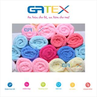Combo 5 Khăn mặt trẻ em Microfiber GATEX (25x25cm) siêu mềm mịn, siêu thấm hút – DỆT MAY GIA AN