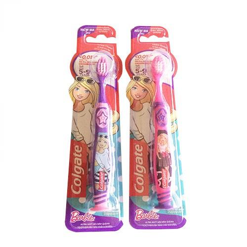 Bàn chải đánh răng em bé Colgate Barbie siêu mềm cho bé từ 5-9 tuổi