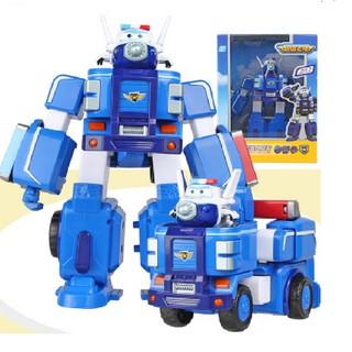 ROBOT BIẾN HÌNH SUPER WINGS kết hợp xe cứu hộ nhỏ – Cảnh Sát Paul Tặng móc khóa Lego 25k