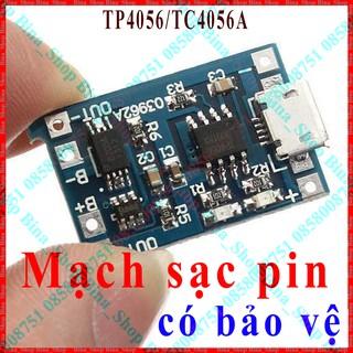Mạch sạc pin 18650 có bảo vệ IC TP4056 / TC4056A