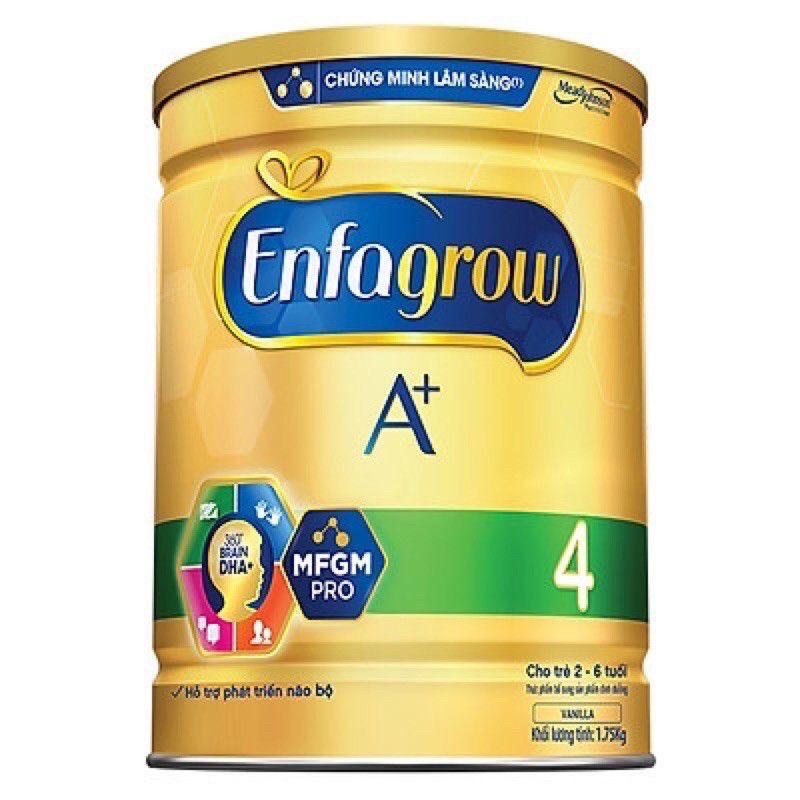 [Mã 267FMCGSALE giảm 8% đơn 500K] (Hsd 29/4/2022) Sữa bột Enfagrow A+ 4 1750g cho bé Thông minh