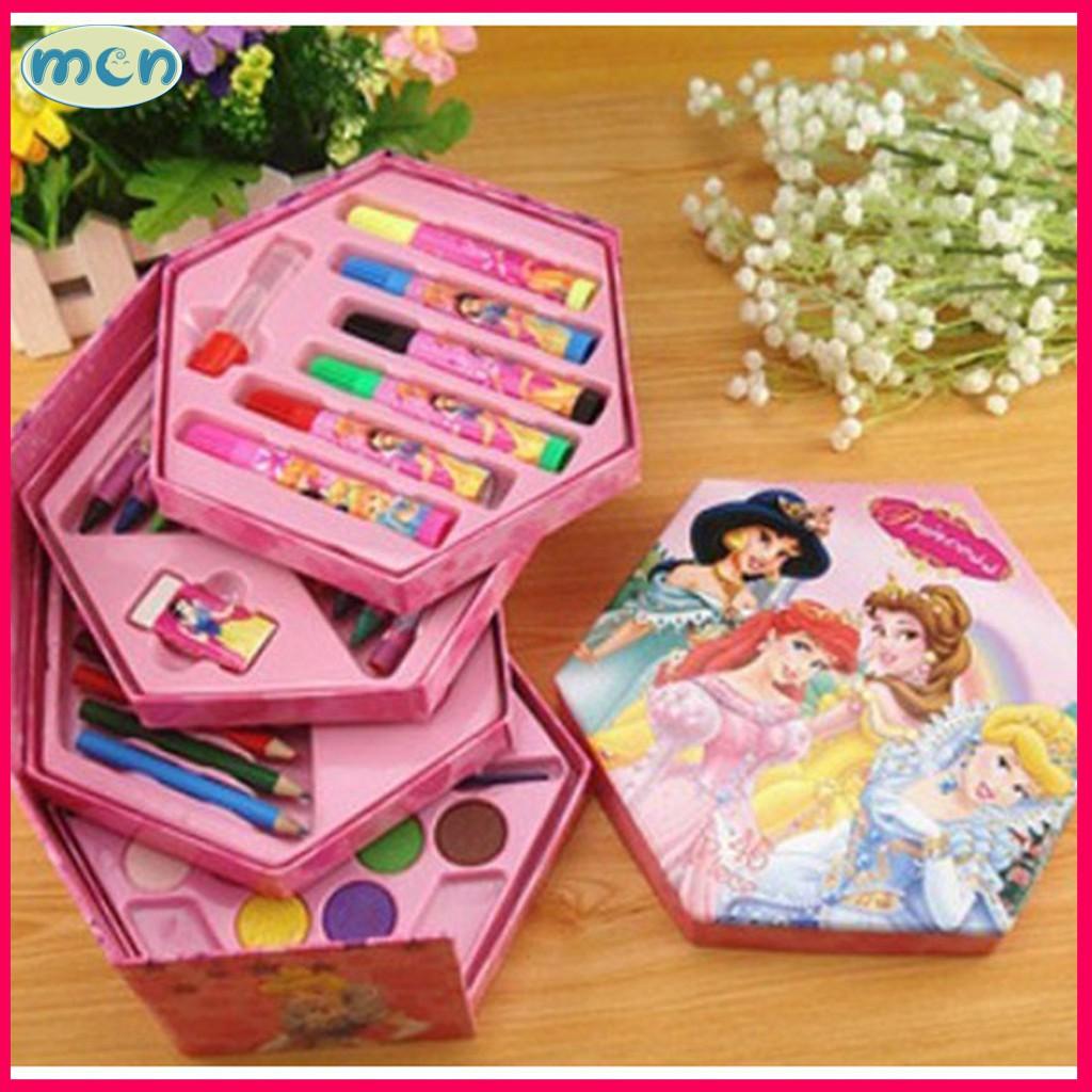 hộp bút tô màu cho bé / hộp tô màu cho bé - 46 món màu đẹp, sắc nét