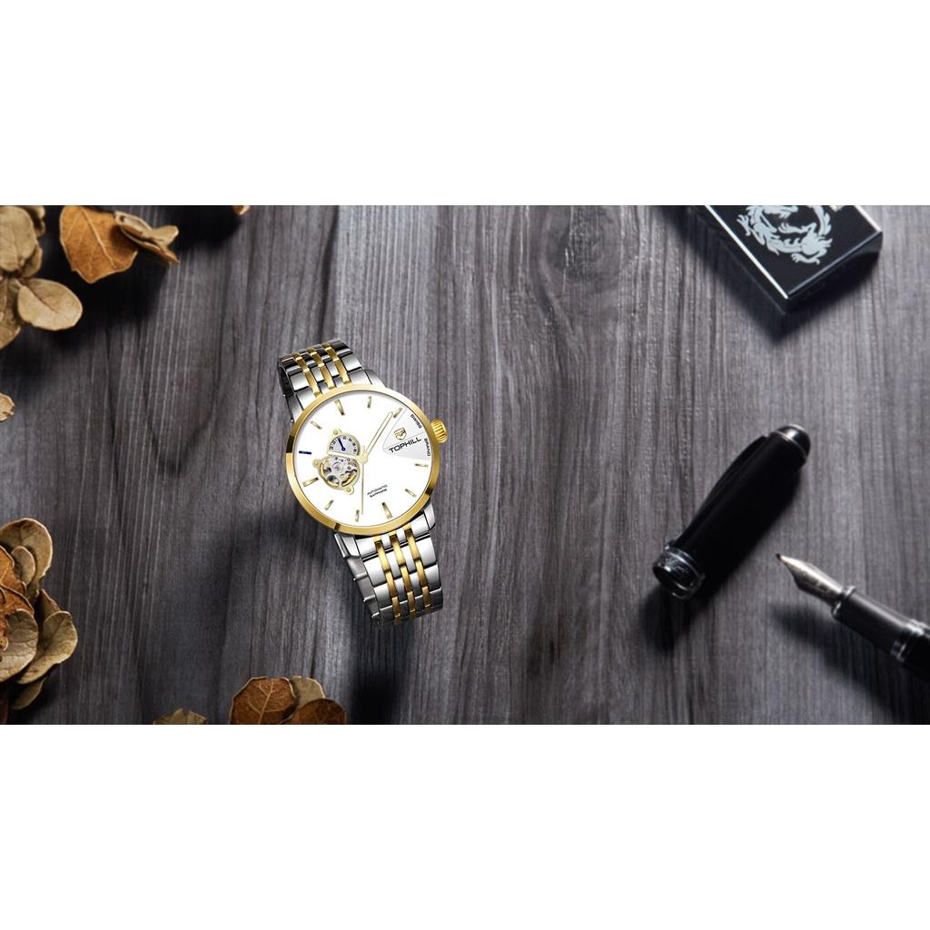 Đồng hồ nam chính hãng TOPHILL TW083G.S6258 - Dây thép - kính Saphire