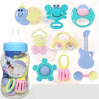 [Nhập mã APTOYFAIR giảm 20K khi thanh toán qua Airpay]Bộ xúc xắc bình sữa 9 món Baby Toys cho bé