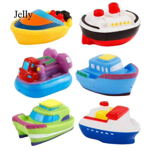 6 PCS Children Kids Floating Boat Bath Game Toy Water Play Swimming Pool J785