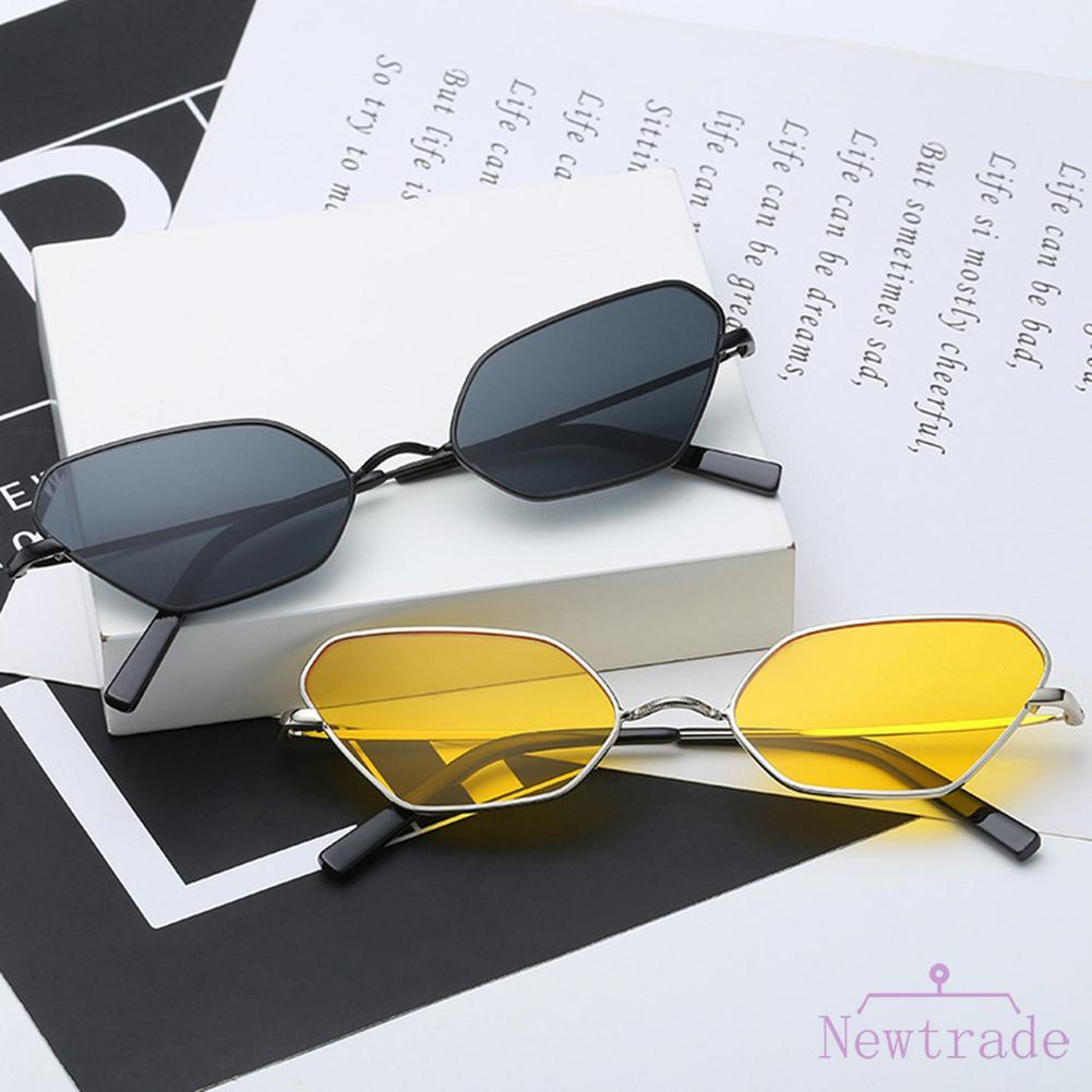 △ Autumn BAG Punk Cat Eye Eyewear Ocean Lens Metal Frame Sun Glasses Unisex Sunglasses