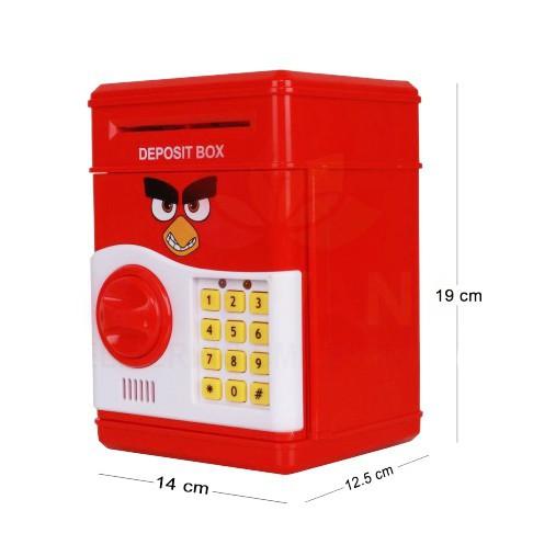 Đồ chơi két sắt mini đựng tiền thông minh mở bằng mật mã hình Angry bird (giá giảm rẻ