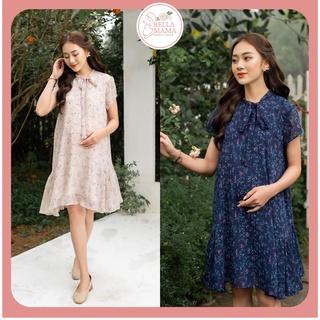 Váy Bầu Mùa Hè Hoa Nhí Buộc Nơ Chất Liệu Tơ Hàn Quốc Mềm Mát Đủ Size Cho Mẹ Bầu Và Sau SinhTừ 47-85kg BELLA MAMA - D25 thumbnail