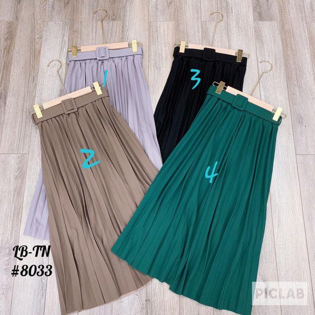 Chân váy xếp ly dáng dài kèm đai ( ảnh và video shop chụp)