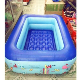 Bể bơi 1m2 đáy 2 lớp chống trượt cho bé yêu.