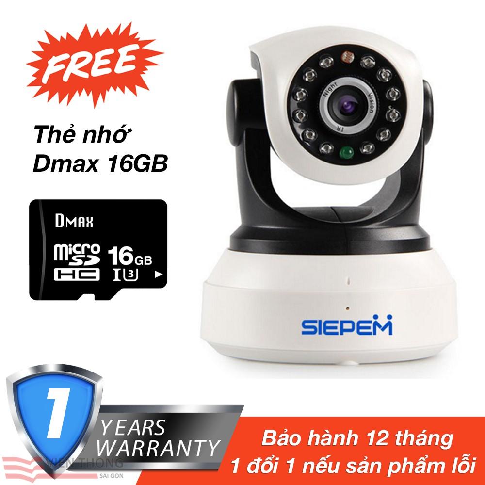 Camera IP WiFi thông minh IP S6203Y tặng kèm Thẻ nhớ 16GB Dmax tốc độ cao U3 - 2772968 , 1123243969 , 322_1123243969 , 679000 , Camera-IP-WiFi-thong-minh-IP-S6203Y-tang-kem-The-nho-16GB-Dmax-toc-do-cao-U3-322_1123243969 , shopee.vn , Camera IP WiFi thông minh IP S6203Y tặng kèm Thẻ nhớ 16GB Dmax tốc độ cao U3