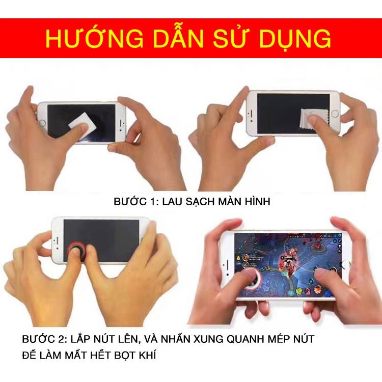 Nút bấm Joystick di chuyển chơi Game Mobile Q8 plus có vân tăng độ bám, độ nhạy chống trượt
