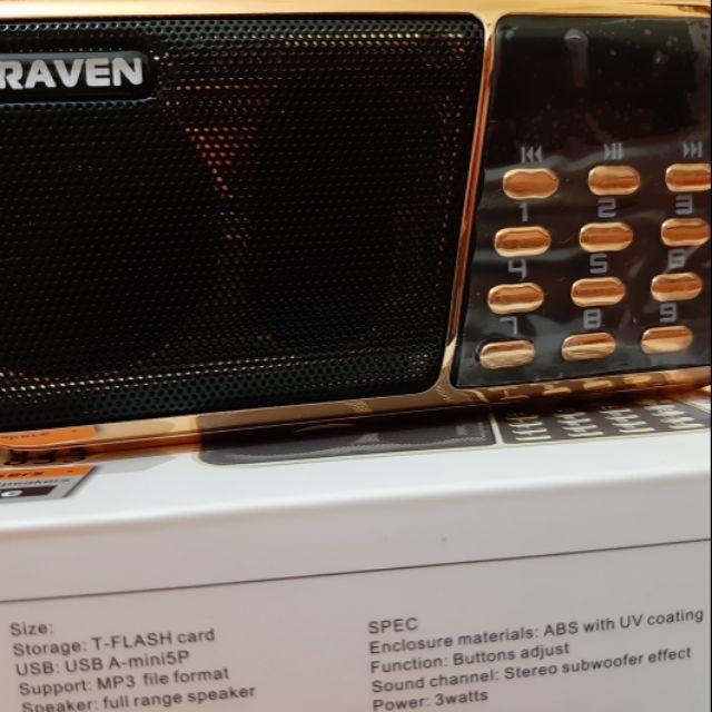 Loa nghe học ngoại ngữ Craven Cr853 (3 pin, 2 khe cắm thẻ, 1 cổng usb)