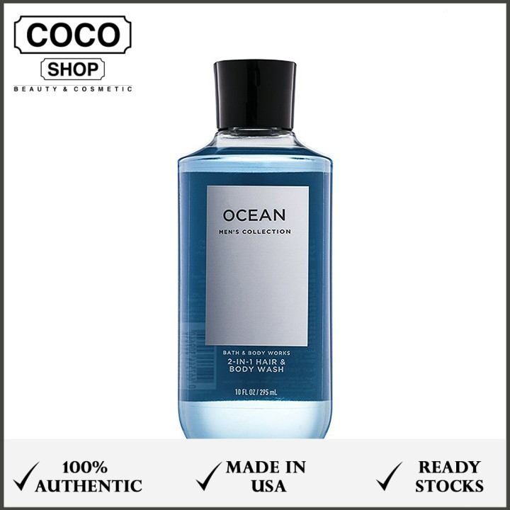 Sữa tắm gội 2 trong 1 BATH AND BODY WORKS - Ocean (295 ml) - Men's Collection - cocoshop