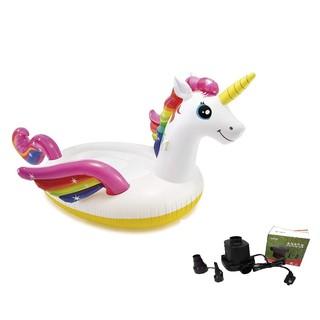 Phao bơi ngựa thần khổng lồ sắc màu INTEX 57281 tặng bơm điện