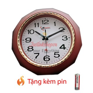 Đồng Hồ Treo Tường Master Kim Giật Viền Giả Gỗ Giáng Hương Siêu Sang Trọng - JQL-DHTT-HD45